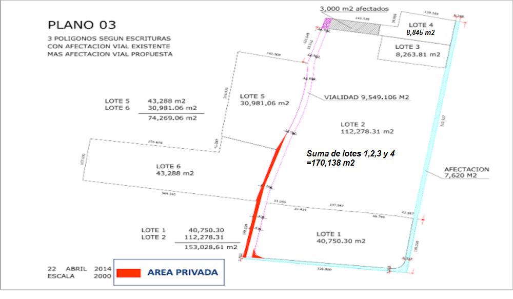 Plano Rancho Coapa El Peral Cuautitlan